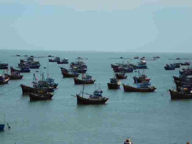 Fischerboote in Mui Ne