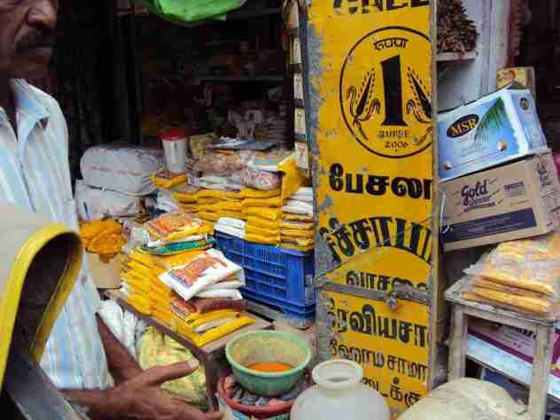 Marktstand in Madurai