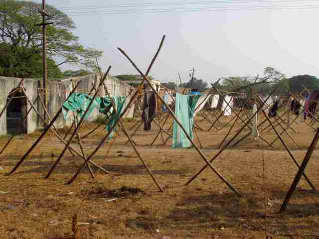Drying in open air