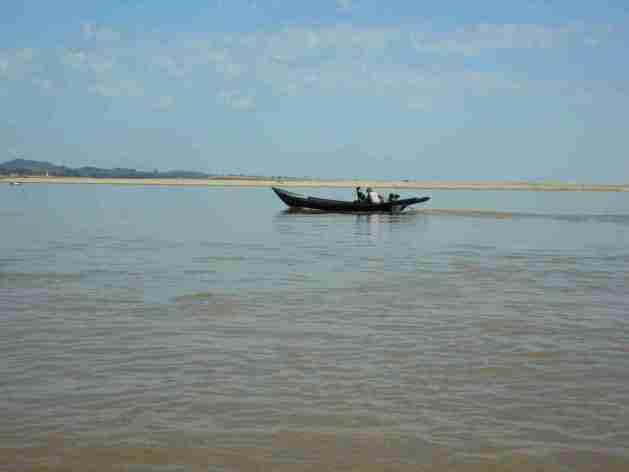 Boot auf dem Irrawadda