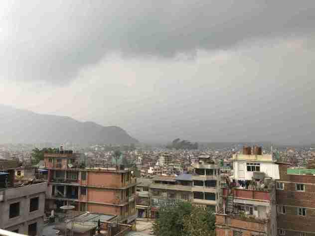 Wolken über Kathmandu