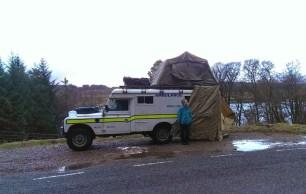 Scotland roof tent test