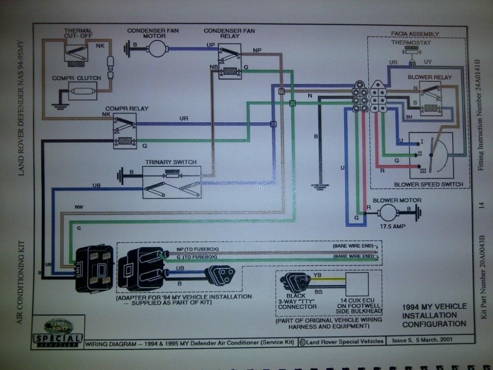 medium resolution of 1994 d 90 ac issue help please land rover forums land rover rh landroverforums com 1994 1994 defender 90 wiring diagram