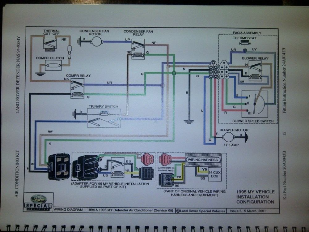 medium resolution of land rover defender 90 rear wiring diagram wiring library1994 d 90 ac issue help please land