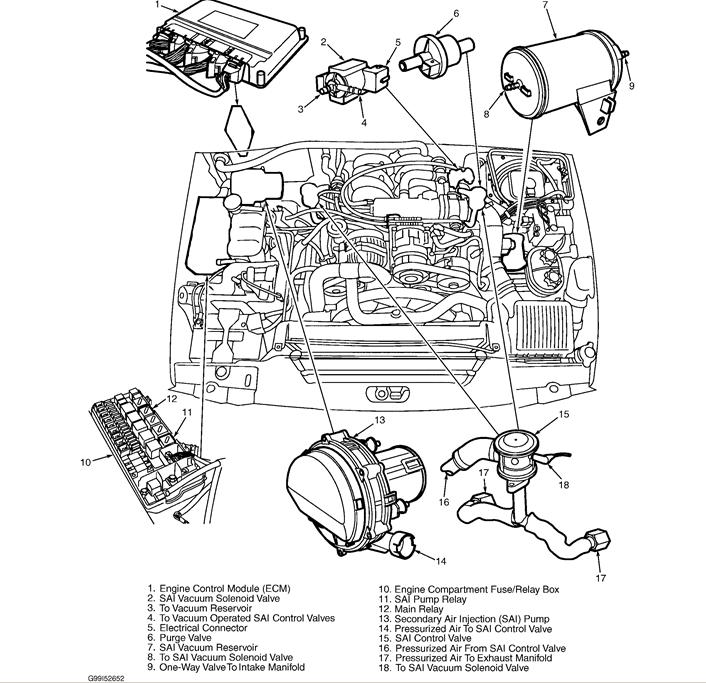 2004 Land Rover Freelander Engine Diagram, 2004, Free
