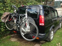 Thule Spare Me 963XTR Tire Mounted Bike Rack on a Disco