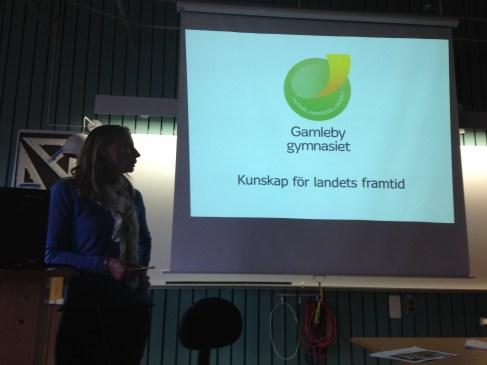 Sofie Alvarsson, rektor, berättade om skolans verksamhet och utveckling. Och om den förändringen som ska ge bättre utbildning.