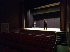 Mina guider för dagen tog plats på scen.