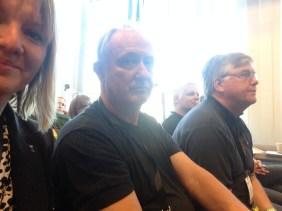Förutom jag, så var Torbjörn och Hasse på plats från Västerviks Landsbygdsråd. Sedan hade även kustlandet två västervikare på plats och en av våra riksdagsmän. Välrepresenterade - helt enkelt.