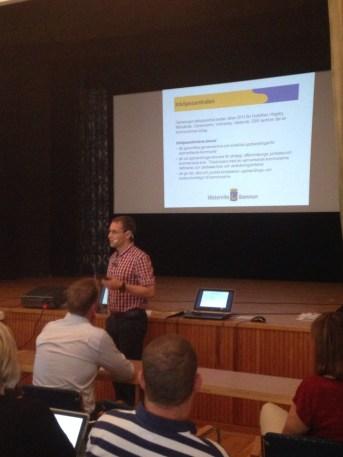 Anders Strömbäck, min kollega på inköpscentralen berättade om hur man genomför en upphandling.
