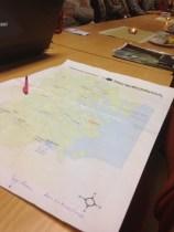 Närvaroregistreringen skedde på en kommunkarta och visade att större delen av kommunen fanns på plats.