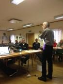 Janne Näsström berättade om sitt variteprojekt och visionerna för tältet.