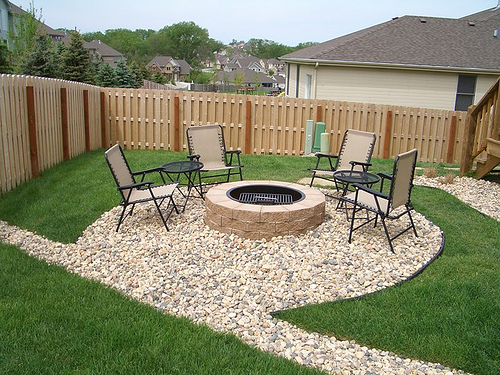 patio fire pits nice landscaping
