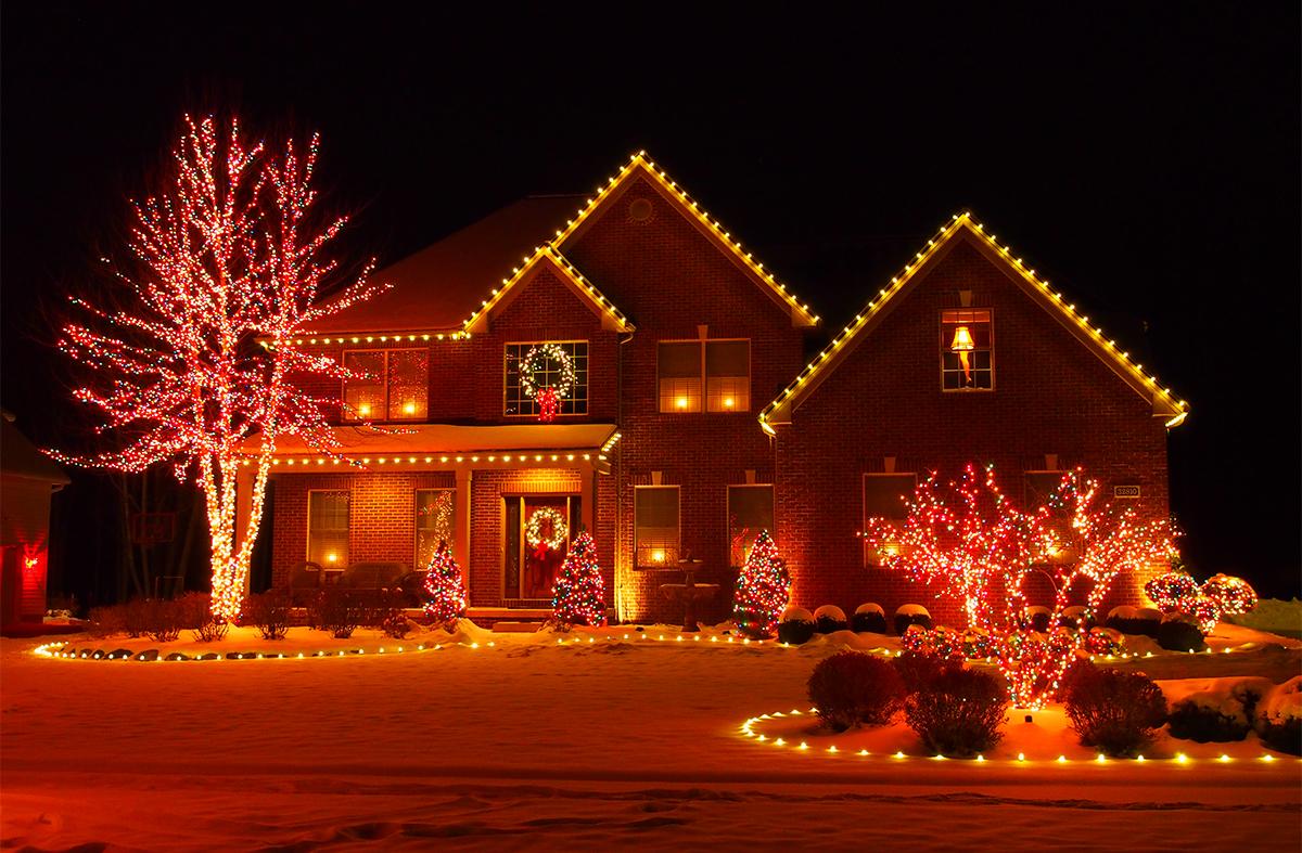Christmas Lights House Cleveland Ohio