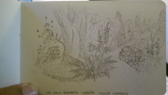 Sketch of the Long Borders, Hidcote Manor
