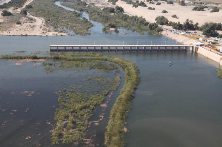 Morelos Dam in 2014, peak flow. Photo: U.S. Border Patrol