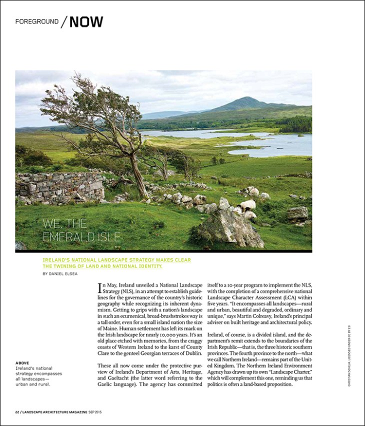Ireland's National Landscape Strategy makes clear the twining of land and national identity.