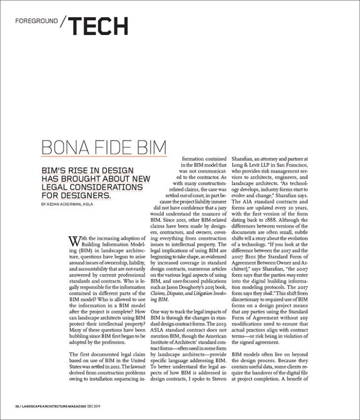 Bim Landscape Architecture Magazine