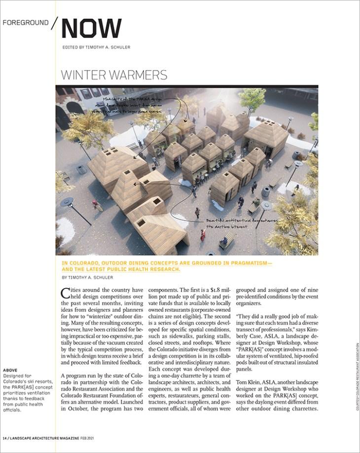 Competitions Landscape Architecture Magazine