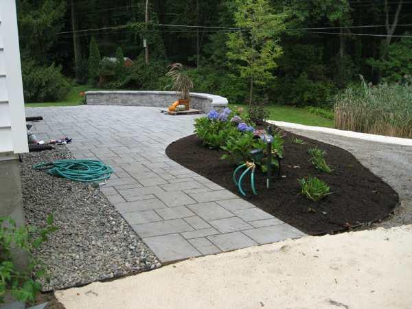 yard hardscape design loudonville