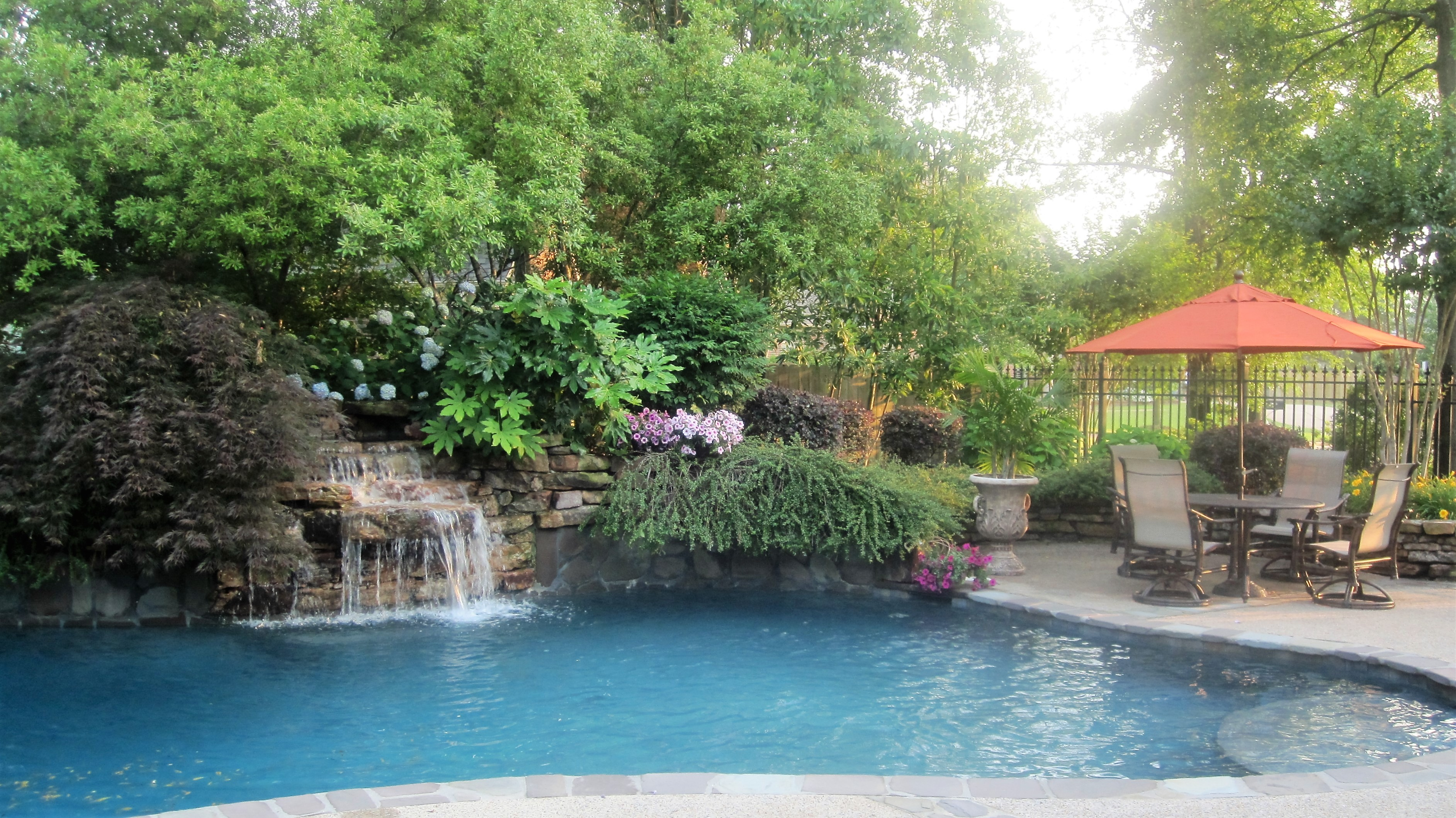 Swimming Pools & Waterfalls - Memphis Landscaping Company