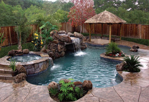 custom swimming pool landscape