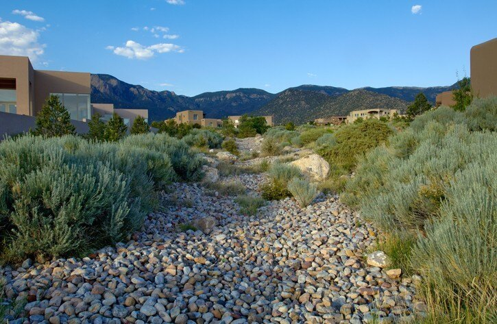high desert community landscape
