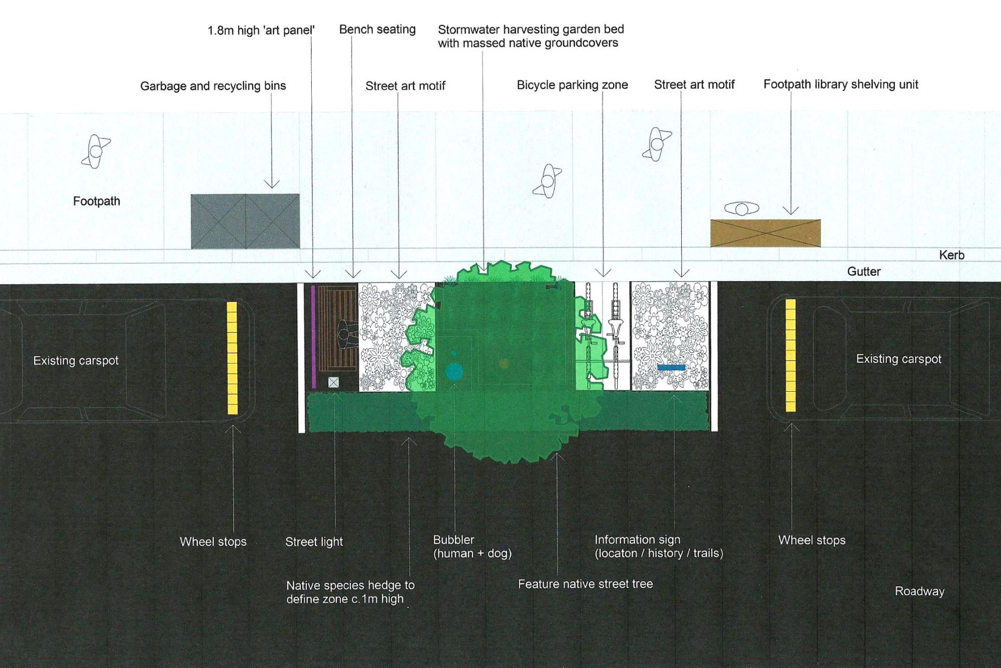 hight resolution of carspot pod plan