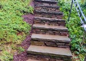 Bluestone Staircase in West Hartford