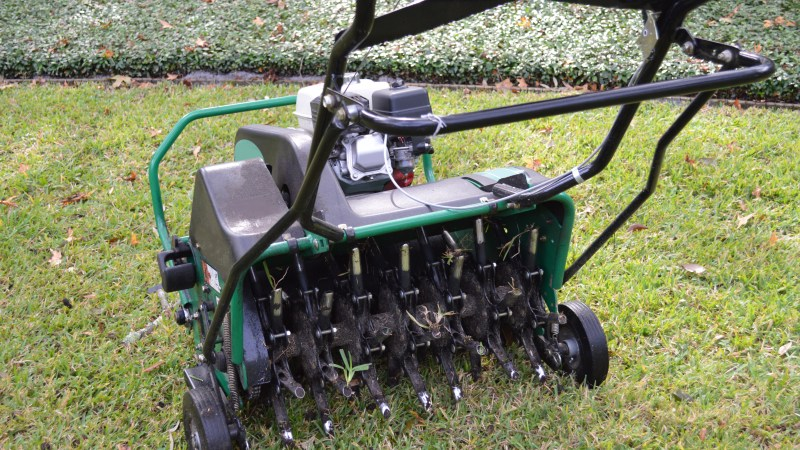 Lawn Aeration And Seeding