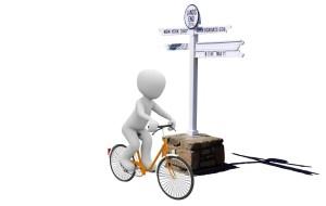 Lands End to John O'Groats Bike at Lands End Sign Post