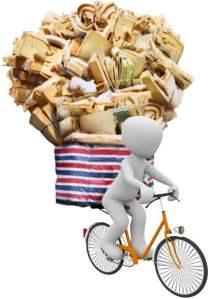 LEJOG Equipment Picture of Overloaded Bike