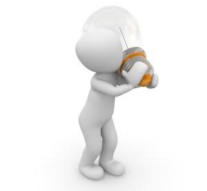 LEJOG What to take - Lights - Man Carrying Light Bulb