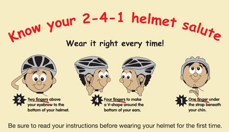 Cycling Helmet Fit Check Image