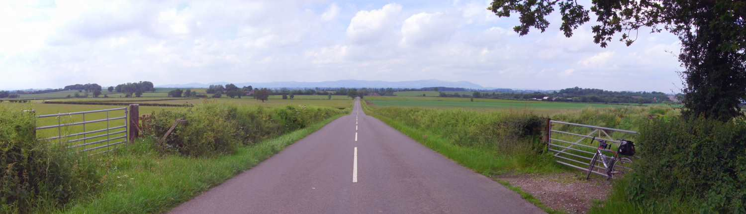 Header Image for Lands End to John O'Groats website - View down road towards Wales