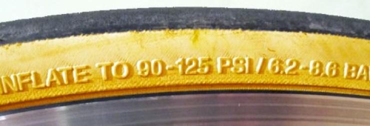 Tyre Pressure Sidewall image
