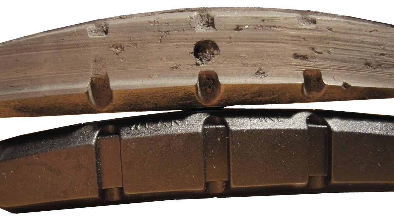 Image of Worn Brake Pads