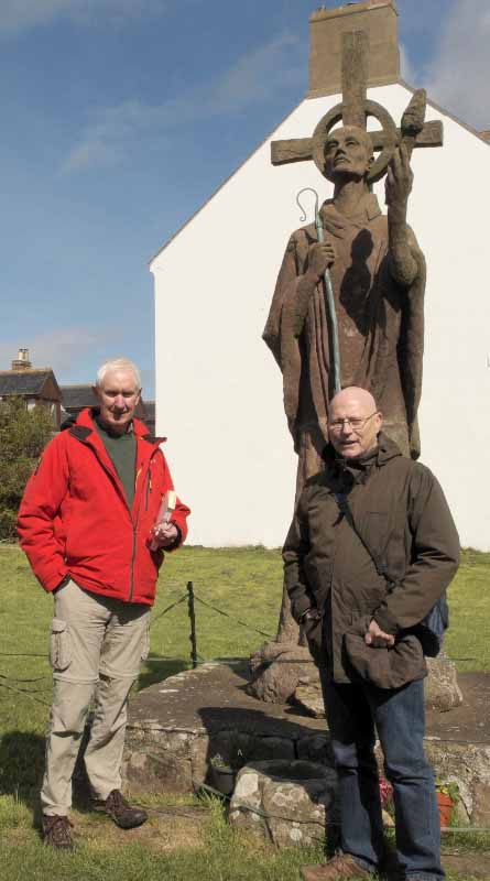 Brian Lacey and Colm O Brien at Lindisfarne