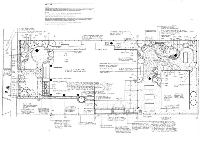 Permaculture Hardscape and Planting Plan