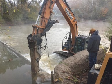 March 30th, second dam deconstruction. (photo credit: Nick Millett)