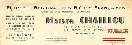 Entrepot régional des bières françaises Maison Chaillou La Roche-sur-Yon