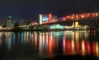 Downtown Shreveport along the Red River