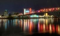 Downtown Shreveport along the Red River