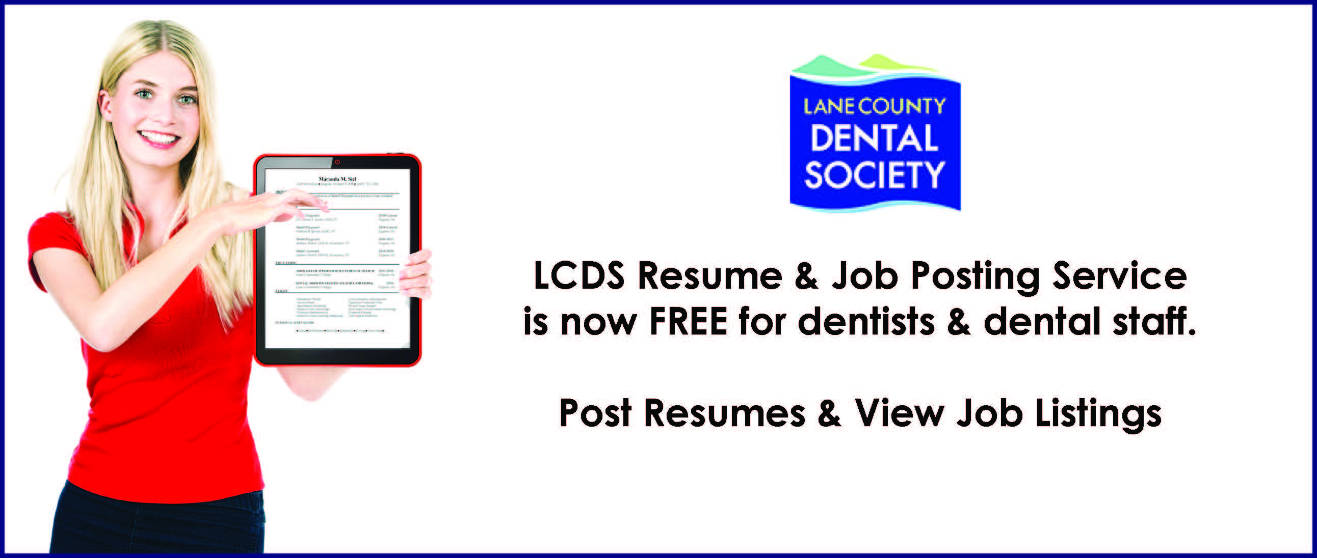 Service Now Resume Lane County Dental Society American Dental Association