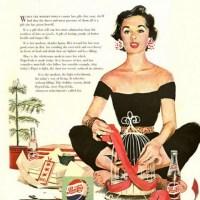 Alguns anuncis il·lustrats de Pepsi-Cola dels anys 50-60