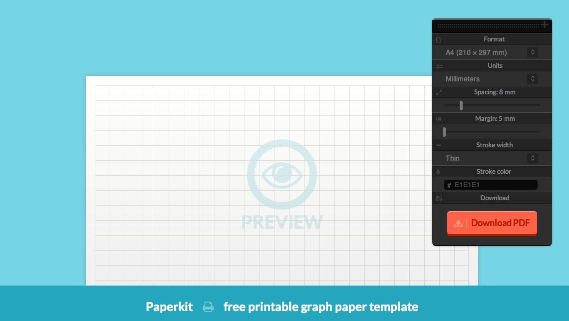Paperkit, plantilla gratis per dissenyar i imprimir paper quadriculat, ratllat o amb punts