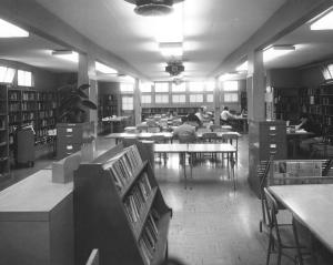 The old Laney Library circa 1960