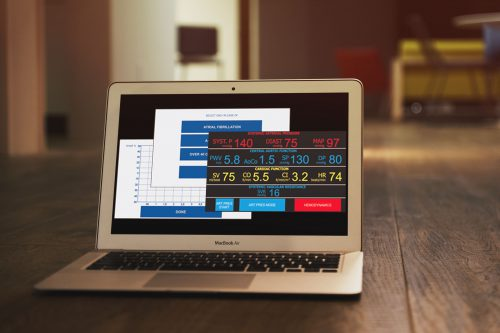 Interfaccia utente per Sfigmomanometro medico