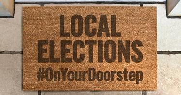 Local Elections Door mat 2017