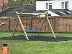 New Barnstone Playground swing